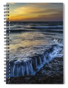 Dusk At Torregorda Beach San Fernando Cadiz Spain Spiral Notebook