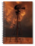 Dusk Down At The Mill Spiral Notebook