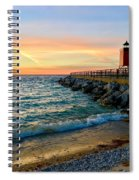 Dusk In Charlevoix Spiral Notebook