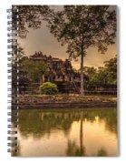 Dusk Light Preah Khan Temple Reflection Spiral Notebook