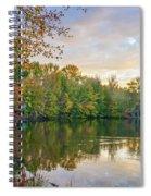 Dusk On Autumn Lake  Spiral Notebook