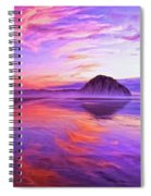 Dusk On The Morro Strand Spiral Notebook