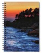 Dusk Stirred Depoe Bay Spiral Notebook