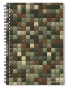 Dust Abstract Triangle Shape Pattern Spiral Notebook