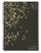 Dust Digital Branch Pattern Spiral Notebook
