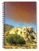 Dust Storm Over Joshua Tree Spiral Notebook