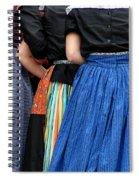 Dutch Dancers In A Huddle Spiral Notebook