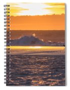 Dutch December Beach 003 Spiral Notebook