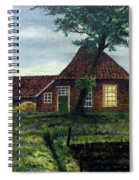 Dutch Farm At Dusk Spiral Notebook