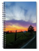Dutch Lane In Evening Sky Spiral Notebook