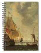 Dutch Ships In A Lively Breeze Spiral Notebook