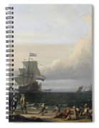 Dutch Ships In The Roads Of Texel Spiral Notebook