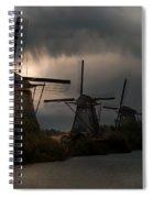 Dutch Windmills In Kinderdjik Spiral Notebook