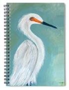 Dutchess Egret Art By Brenda Boss Spiral Notebook