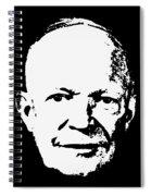 Dwight D. Eisenhower White On Black Pop Art Spiral Notebook