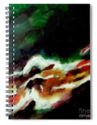Dying Swan-abstract Spiral Notebook