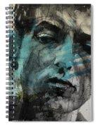 Dylan - Retro  Maggies Farm No More Spiral Notebook