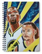 Dynamic Duo - Durant And Curry Spiral Notebook