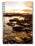 Dynamic Ocean Panoramic Spiral Notebook