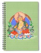 Dzambala The Buddha Of Wealth Spiral Notebook