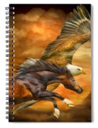 Eagle And Horse - Spirits Of The Wind Spiral Notebook