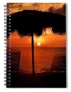 Eagle Beach Sunset Spiral Notebook