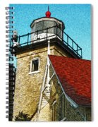 Eagle Bluff Lighthouse Re-imagined Spiral Notebook