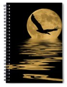 Eagle In The Moonlight Spiral Notebook