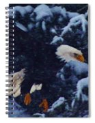 Eagle In The Storm Spiral Notebook