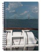 Eagle View Of Ravenel Bridge Spiral Notebook