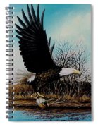 Eagle With Decoy Spiral Notebook