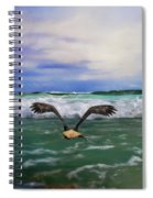 Eagles At Sea Wildlife Art Spiral Notebook