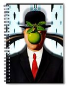 Ear Smoking Apple Guy Standing In The Man Rain Spiral Notebook