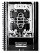 Early 1900s Type Cs Watthour Meter In Black And White Spiral Notebook