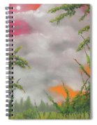 Early Autumn Moon Spiral Notebook
