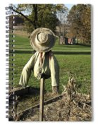 Early Autumn Scarecrow Spiral Notebook