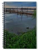 Early Day At The Dock Spiral Notebook