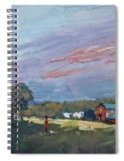 Early Evening At Phil's Farm Spiral Notebook