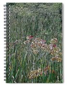 Early Fall Color Woodcut Spiral Notebook
