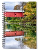 Early Fall Colors Surround A Covered Bridge In Vermont Spiral Notebook