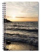 Early Lakeside - Waves Sand And Sunshine Spiral Notebook