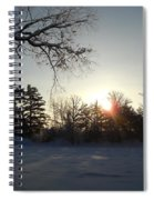 Early January Winter Sunrise Spiral Notebook