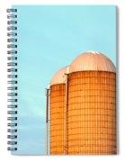 Early Monring Silos Spiral Notebook