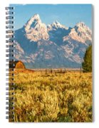 Early Morning At Moulton Barn Spiral Notebook