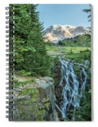 Early Morning At Myrtle Falls Spiral Notebook