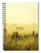 Early Morning At The Farm Spiral Notebook
