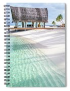 Early Morning At The Maldivian Resort 1 Spiral Notebook