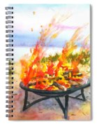 Early Morning Beach Bonfire Spiral Notebook