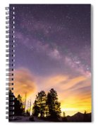 Early Morning Colorful Colorado Milky Way View Spiral Notebook