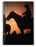 Early Morning Cowboys Spiral Notebook